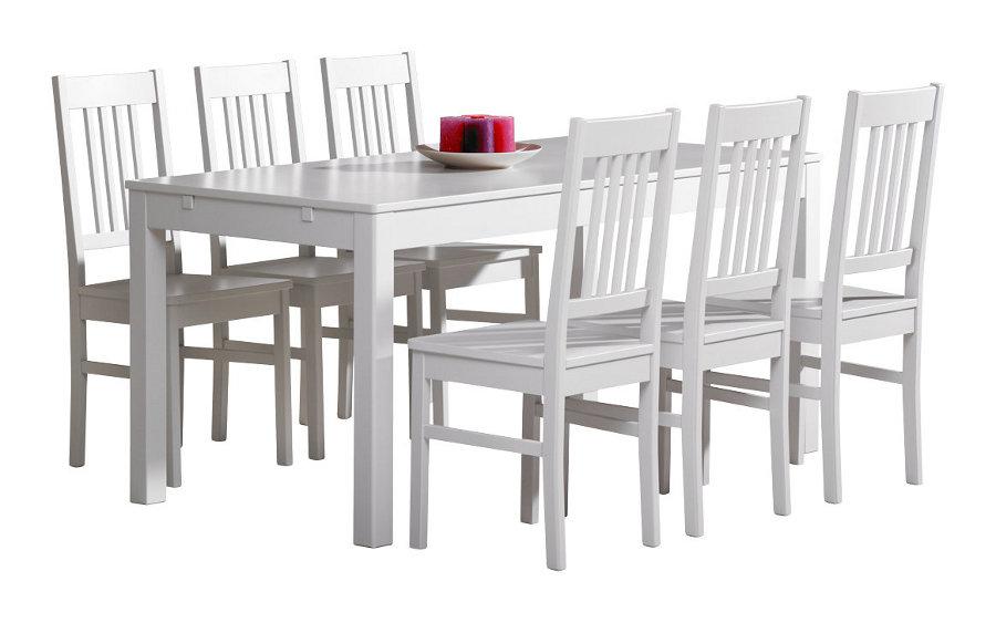 Emilia pöytä 160x80 valkoinen