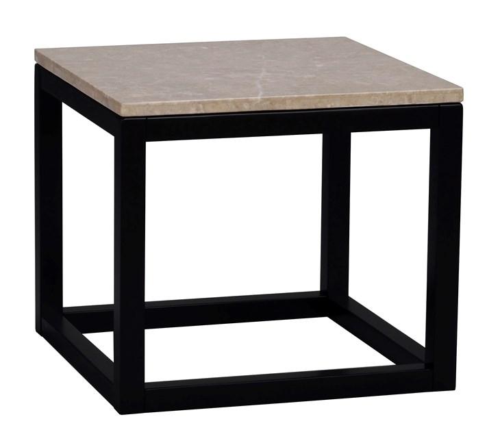 Sydney sivupöytä 50 beige marmori/musta MALLIKPL