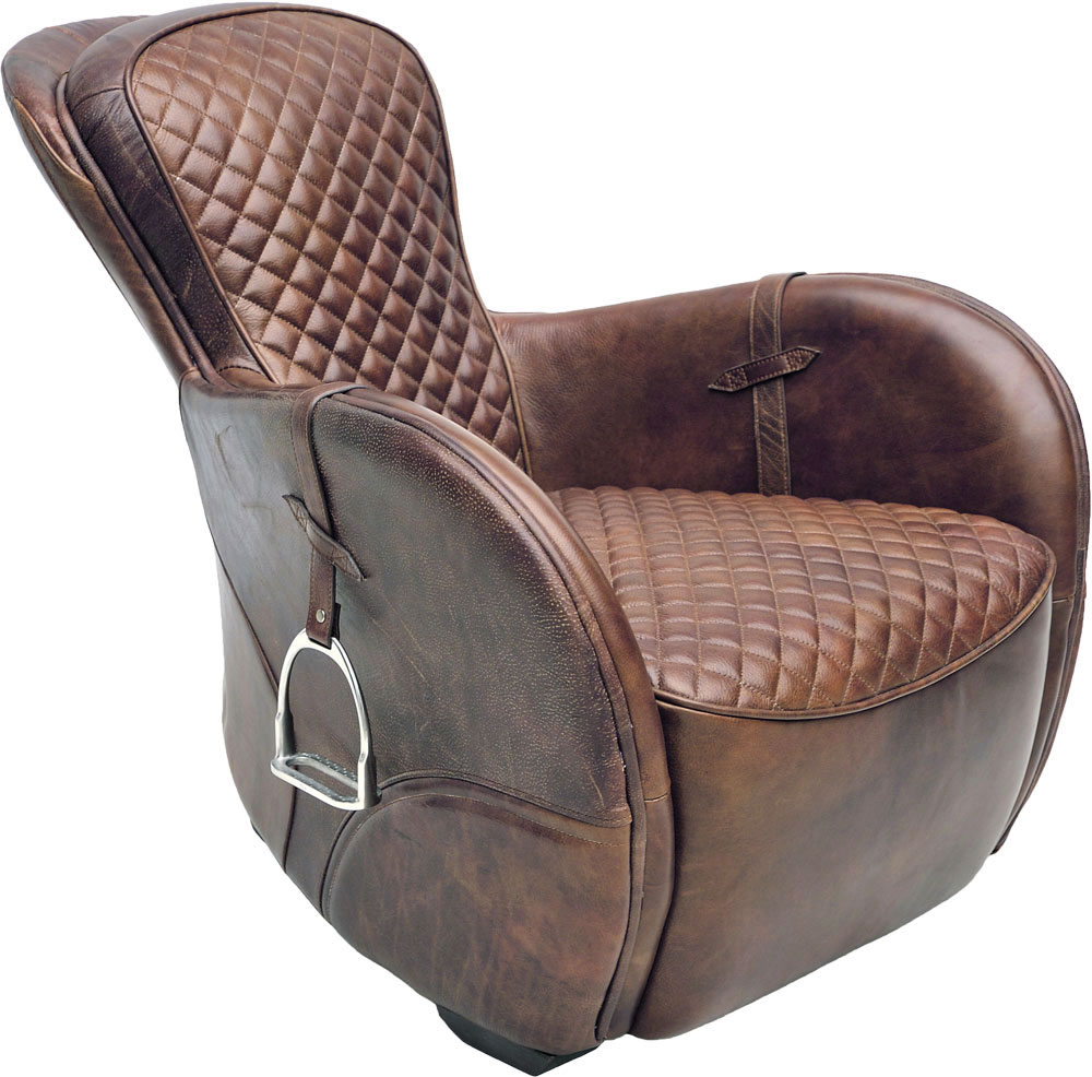 Saddle nojatuoli Bull Nubuck, Artwood