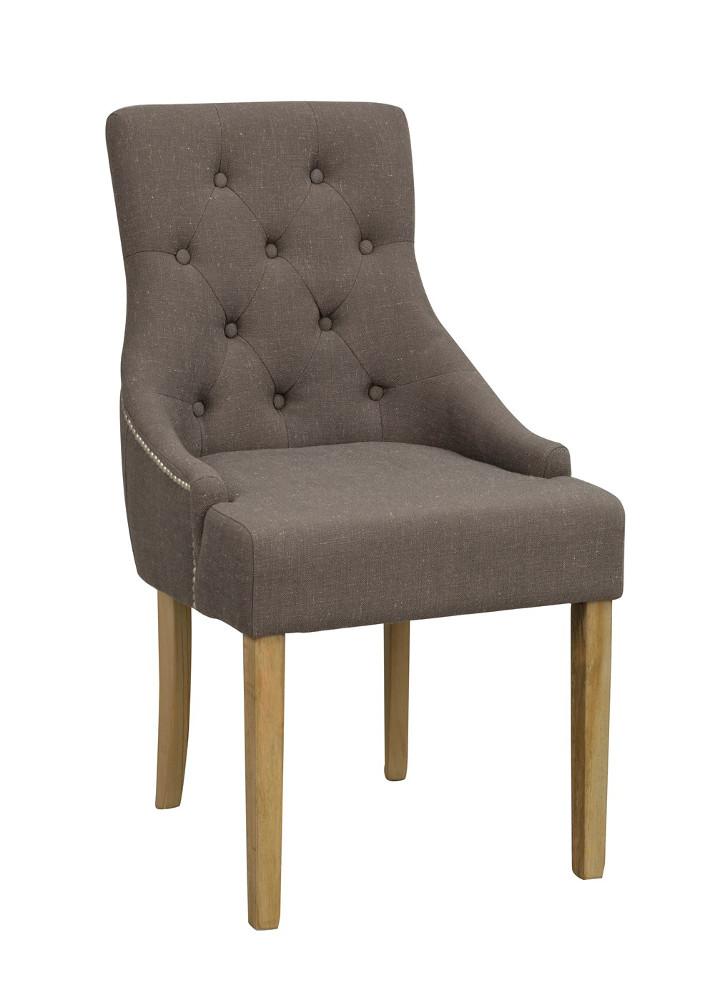 Stella tuoli harmaa kangas / antiikinharmaat jalat, Rowico