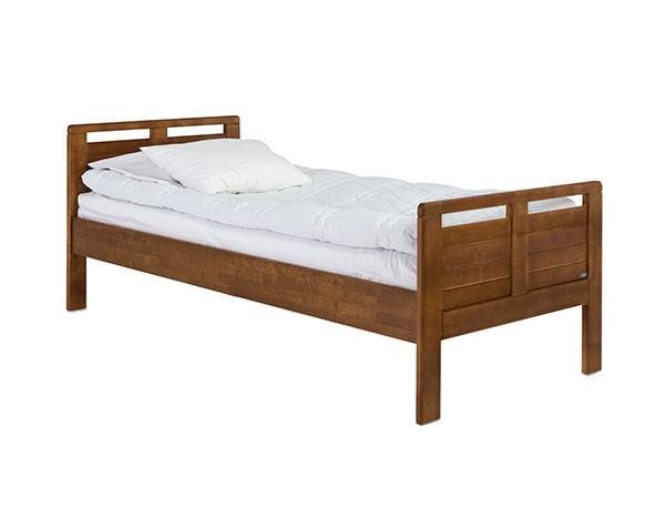 Seniori sänky 90x200, madallettu, pähkinä