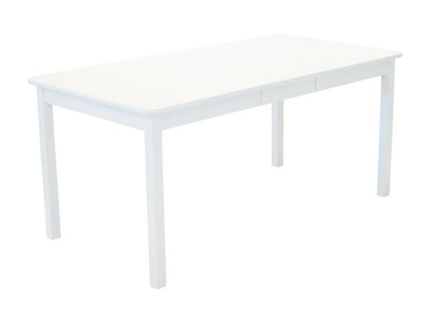 Sanna ruokapöytä 125x85+35cm valkoinen