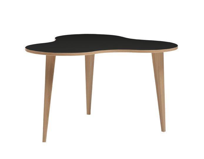 Luna 4 sohvapöytä musta/tammi, tammi puujalat