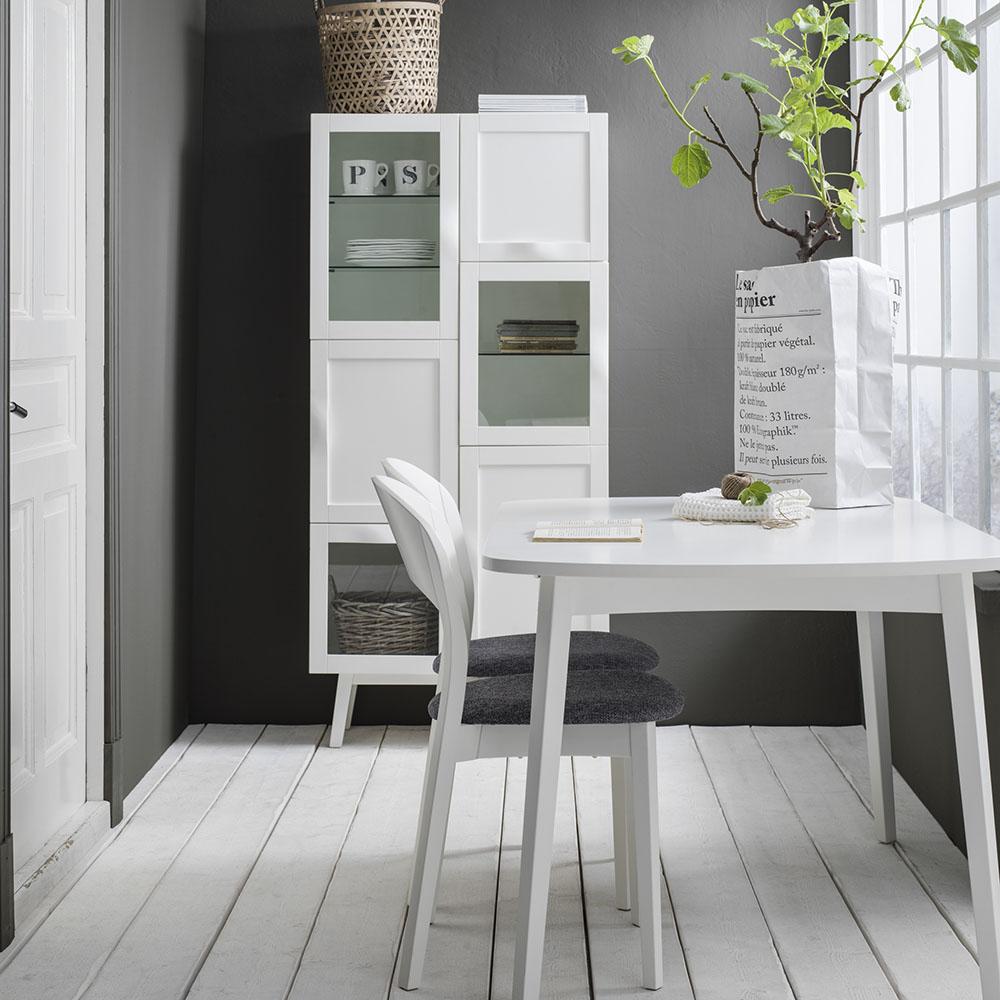 Rainbow pöytä 142(48)x90cm valkoinen