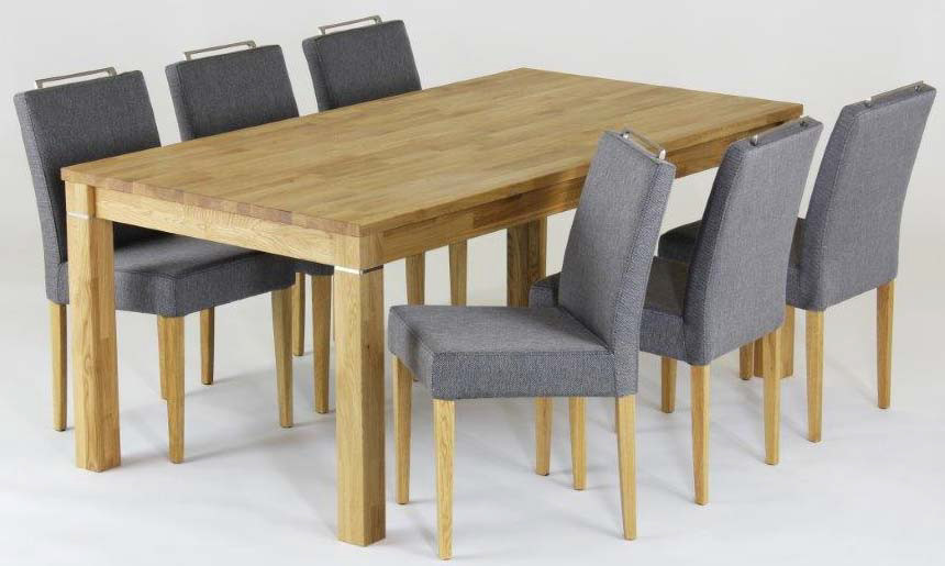 Time pöytä 180x95cm + 6 tuolia tammi / Carabella