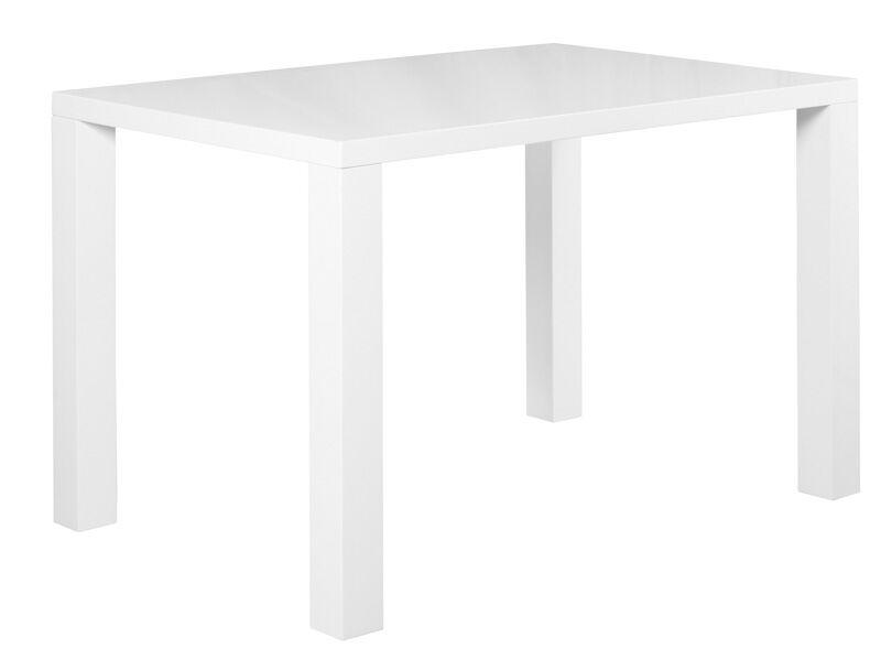 Julia pöytä 120x80cm kiiltävä valkoinen