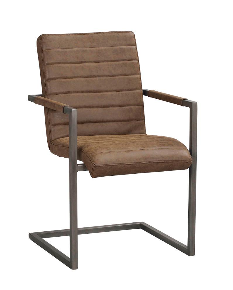 Clive tuoli ruskea keinonahka / metalli, Rowico