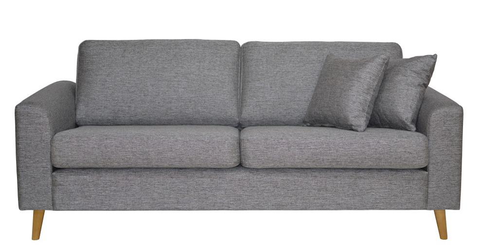 Toledo 3-ist. sohva Rocco 281 harmaa