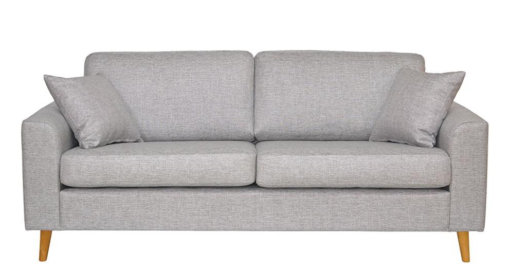 Toledo 3-ist. sohva Rocco 570 vaaleanharmaa