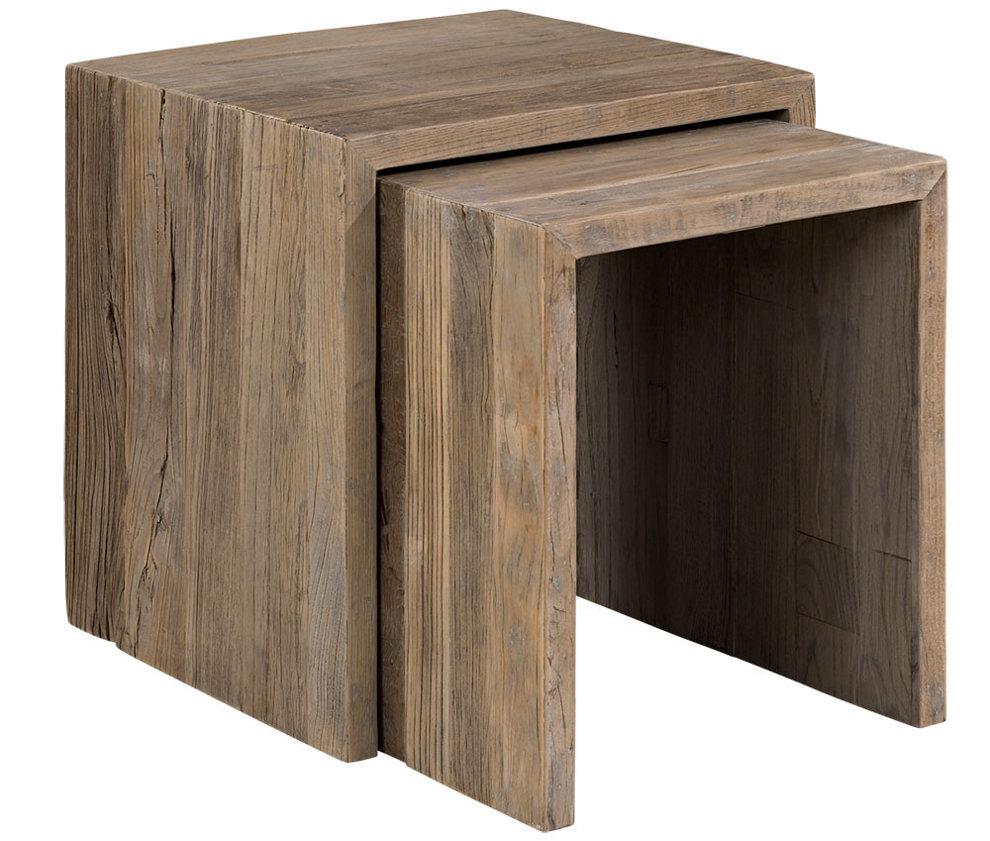 Bison 2-os. sarjapöytä massiivi jalava, Artwood