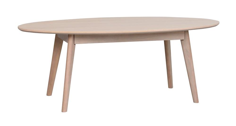 Yumi sohvapöytä ovaali, valkolakattu tammi