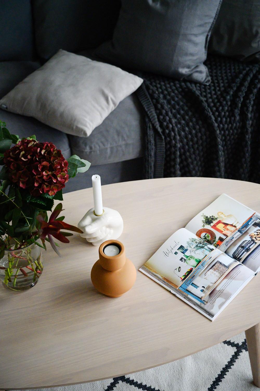 Yumi sohvapöytä ovaali, valkolakattu tammi, Rowico