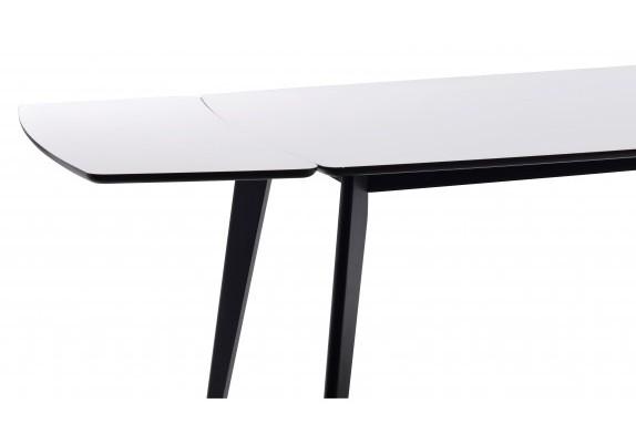 Olivia ruokapöytä 190 valkoinen/musta, Rowico