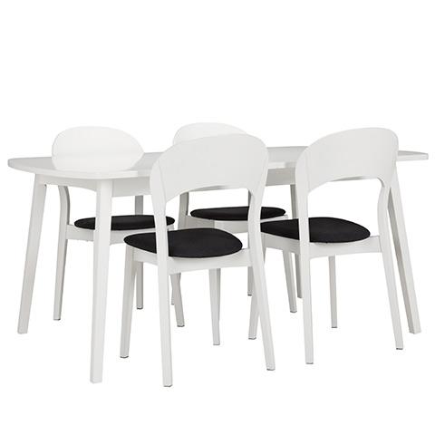 Rainbow pöytä 162(48+48)x100cm valkoinen