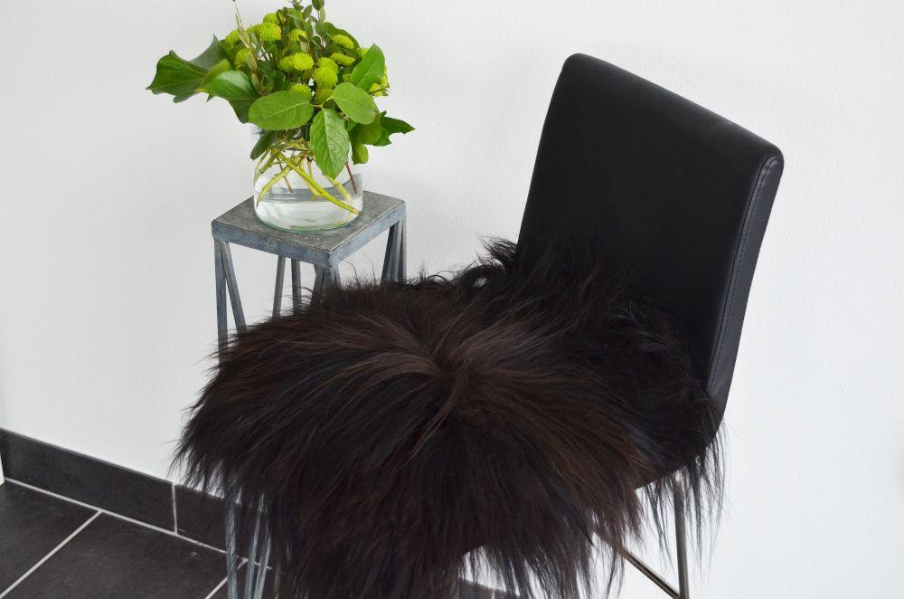 Molly istuinpäällinen 40x40 cm musta, Skinnwille