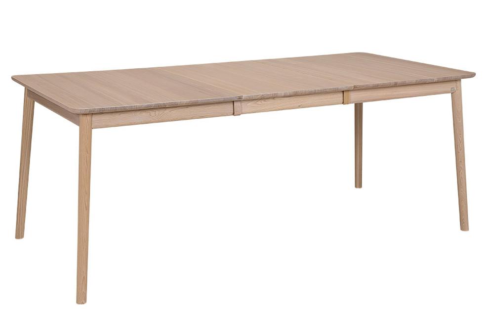 ZigZag pöytä 140(53)x90cm saarni valkolakka