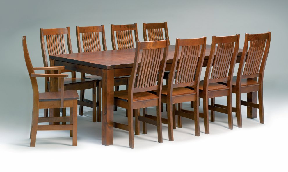 Karl pöytä 210x100 cm + 8 Karl tuolia