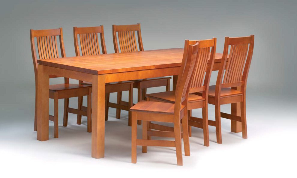 Karl pöytä 180x95 cm + 6 Karl tuolia