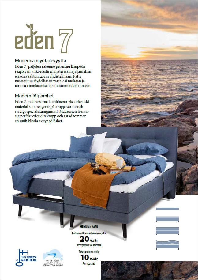 Eden 7 Exclusive runkosänkysetti 90