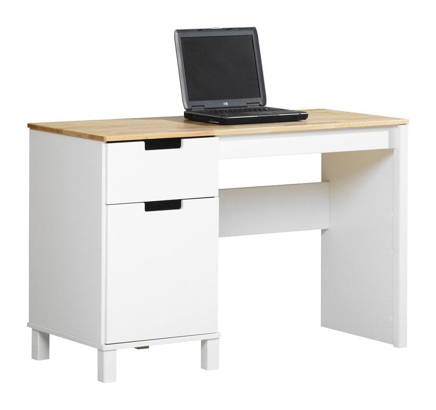 Emilia kirjoituspöytä 120 valkoinen/lv koivu