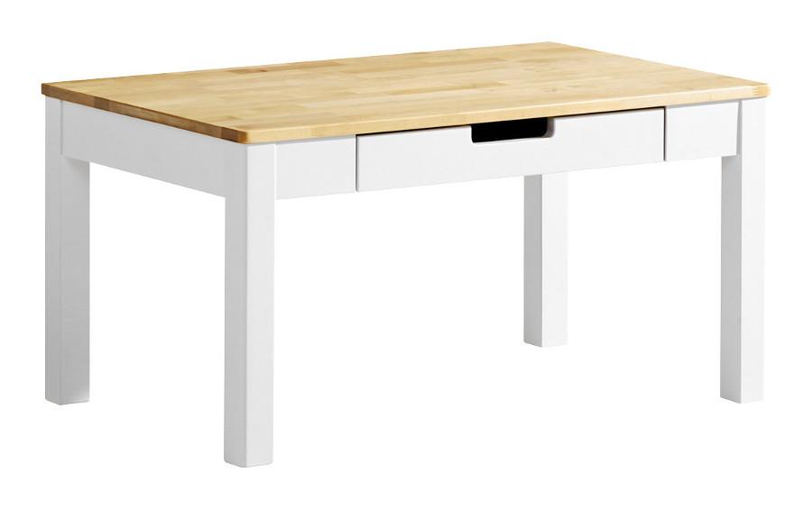 Emilia sohvapöytä 90x60 valkoinen/lv koivu