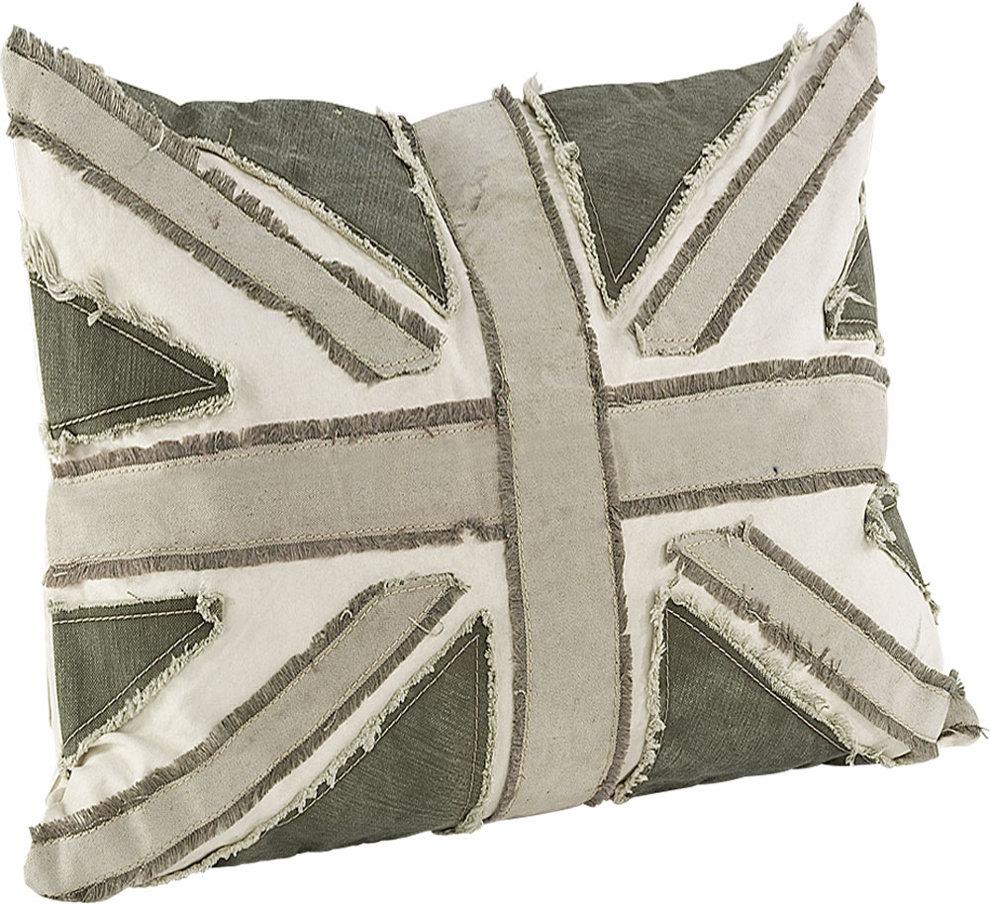 Koristetyynyn päällinen Armytent Flag beige 50x50 c