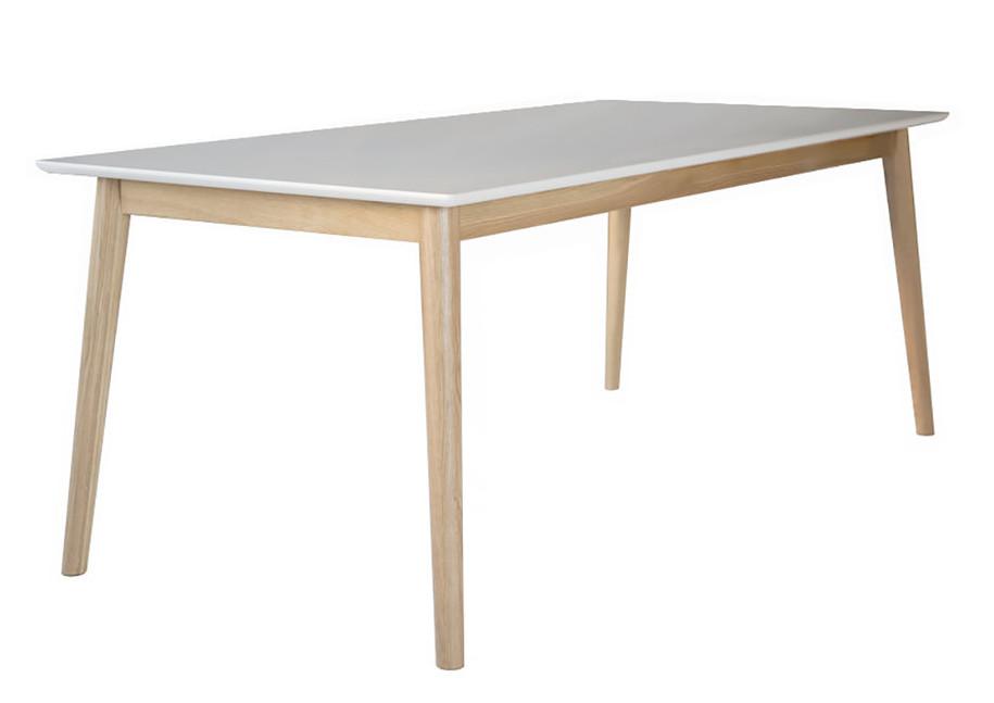 Eelis ruokapöytä 190x90 valkoinen/tammi