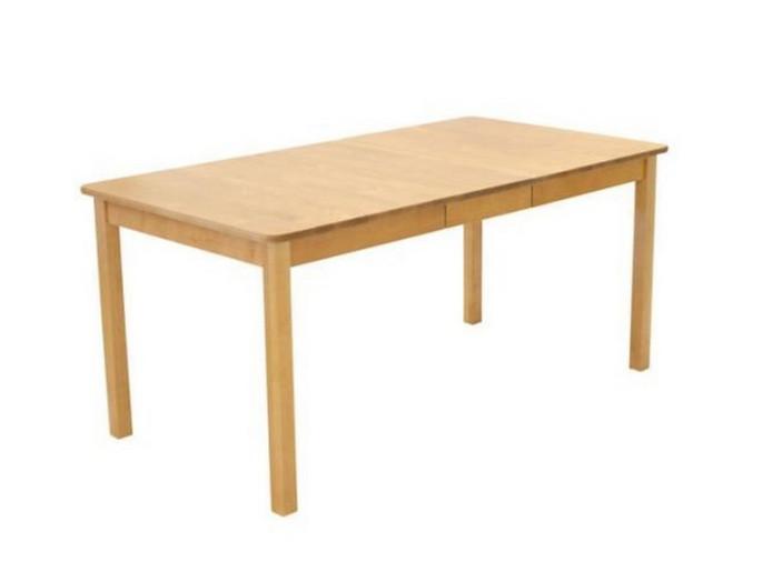 Sanna ruokapöytä 125x85+35cm pyökkipetsattu