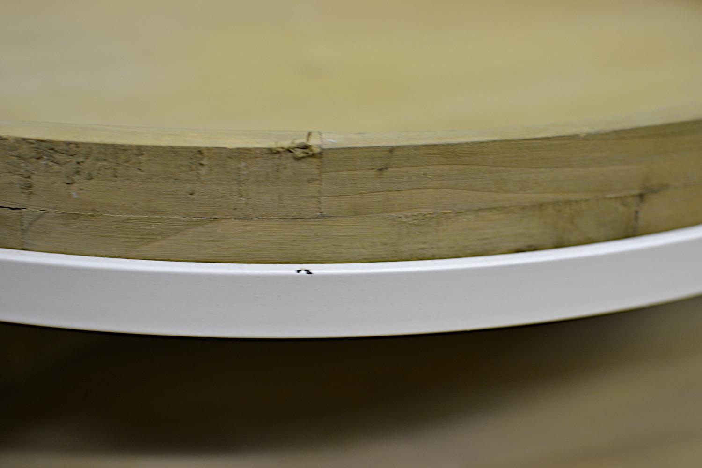 Copan sivupöytä setti valkoinen/puu, II-laatu