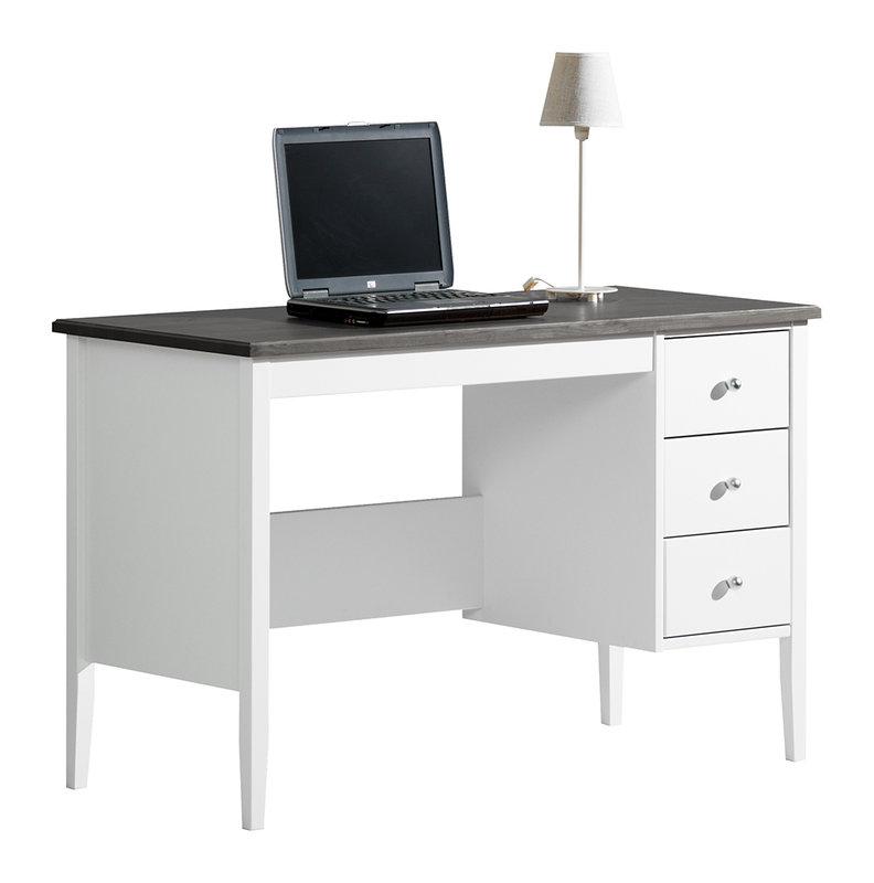 Sara kirjoituspöytä 115 valkoinen/kuultoharmaa
