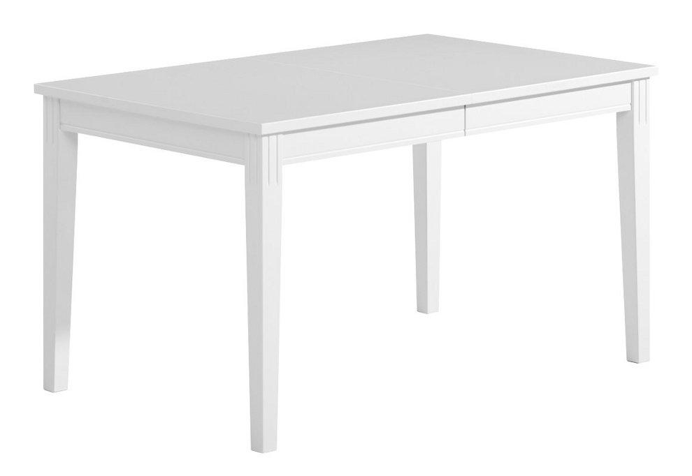 Ida ruokapöytä 130x85+45 valkoinen