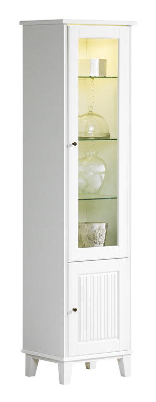 Ida vitriinikaappi 50 lasihyllyillä valkoinen