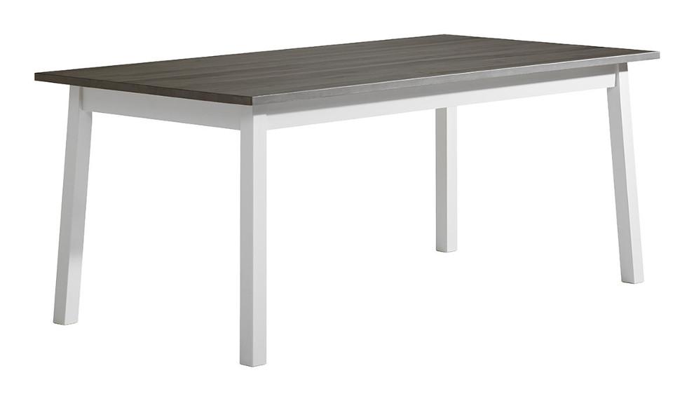 Sara ruokapöytä 180x95 valkoinen/kuultoharmaa