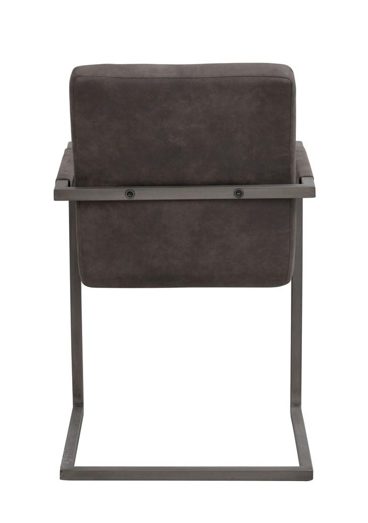 Clive tuoli harmaa kangas / metalli, Rowico