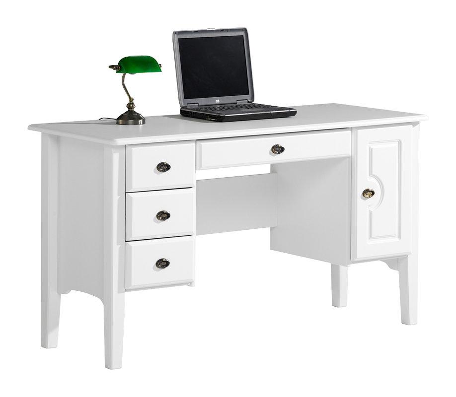 Viktoria kirjoituspöytä 140 laatikolla valkoinen