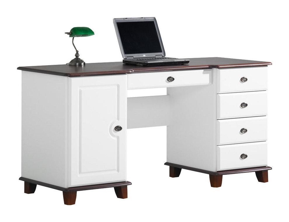 Viktoria kirjoituspöytä 160 valkoinen/pähkinä