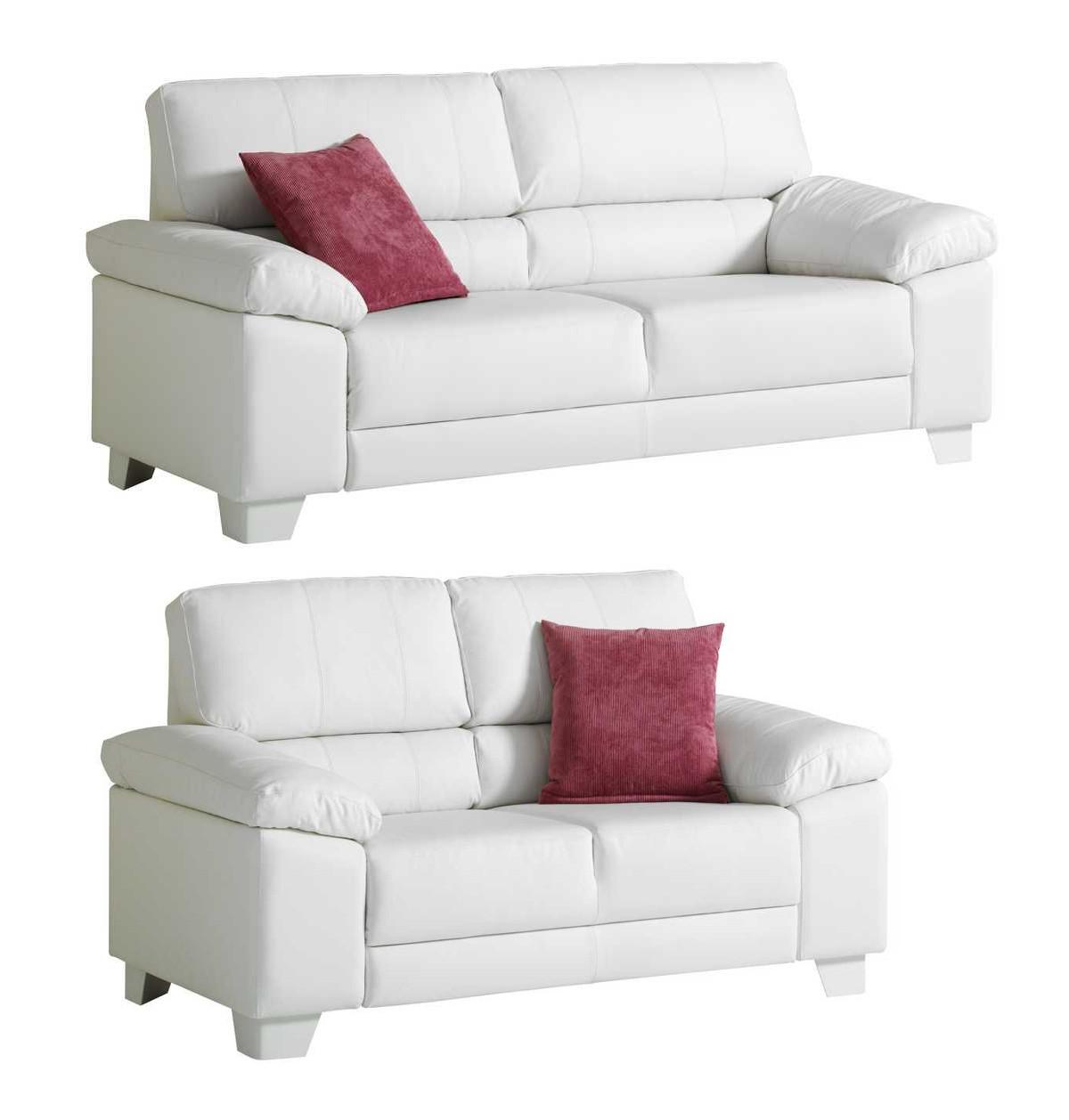 Pinja 3+2 sohvat musta tai valkoinen nahka/kn