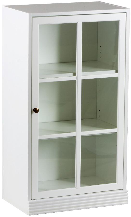 Gustav kirjakaappi 60 kirkas lasi valkoinen