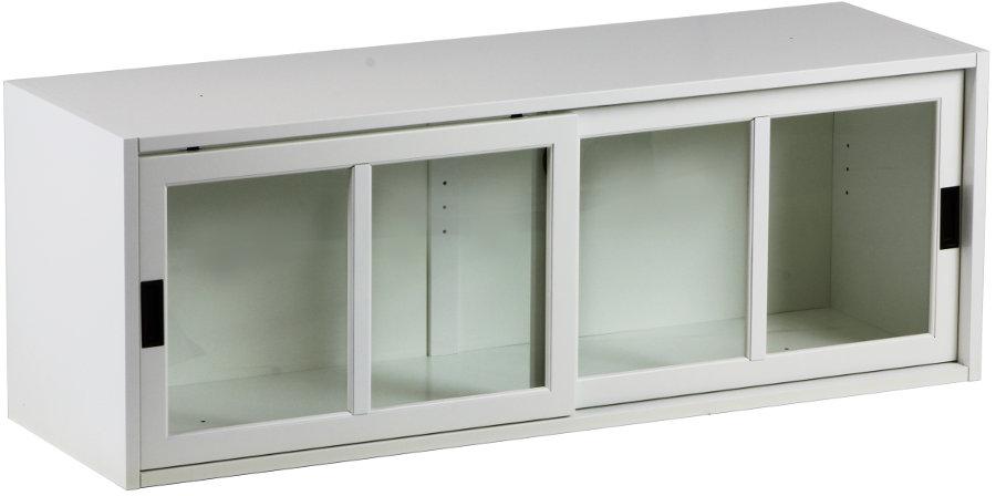 Gustav välikaappi 120cm kirkas lasi valkoinen