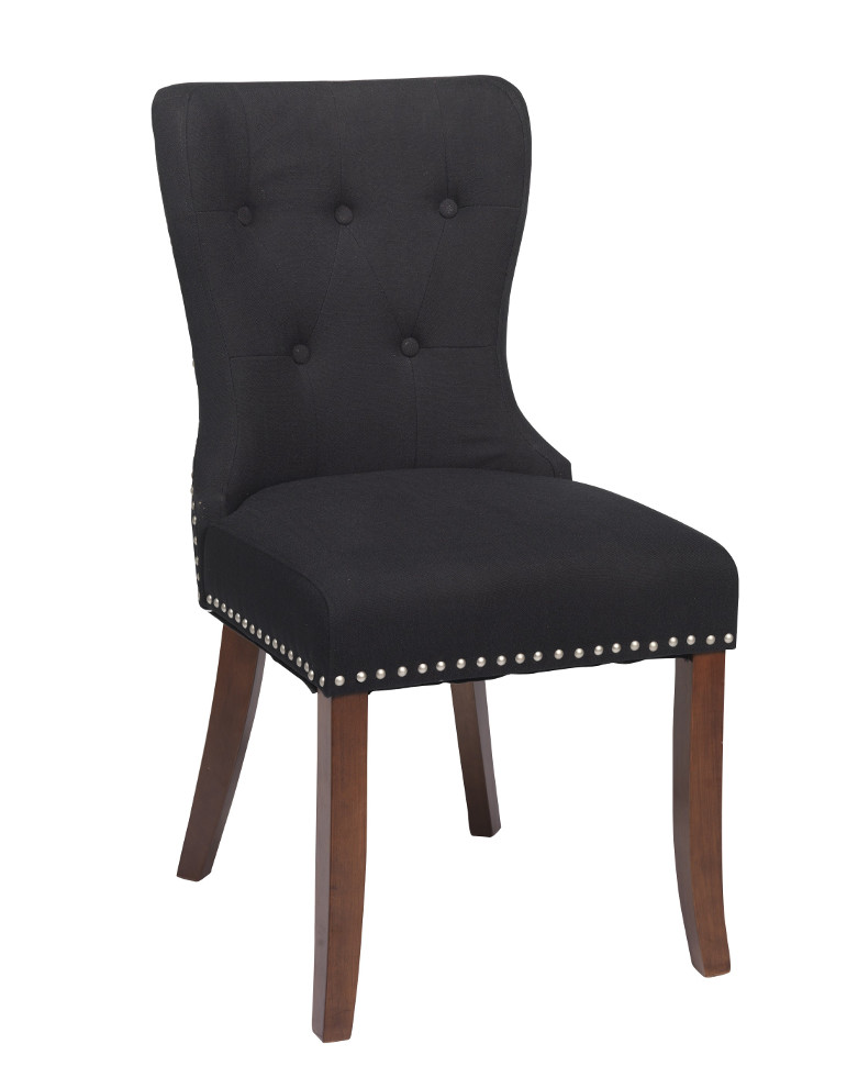 Adele tuoli, musta kangas / ruskeat jalat, Rowico LOPPUERÄ