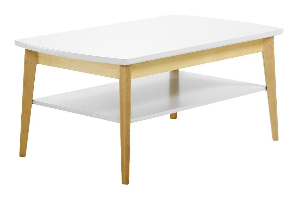Olivia sohvapöytä 100 x 61 koivu / valkoinen