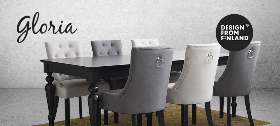 Gloria tuoli harmaa / mustat jalat