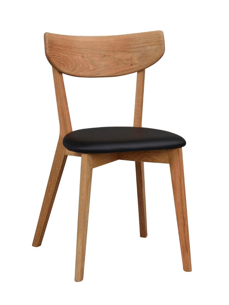 Ami tuoli lakattu tammi, istuin musta keinonahka, Rowico