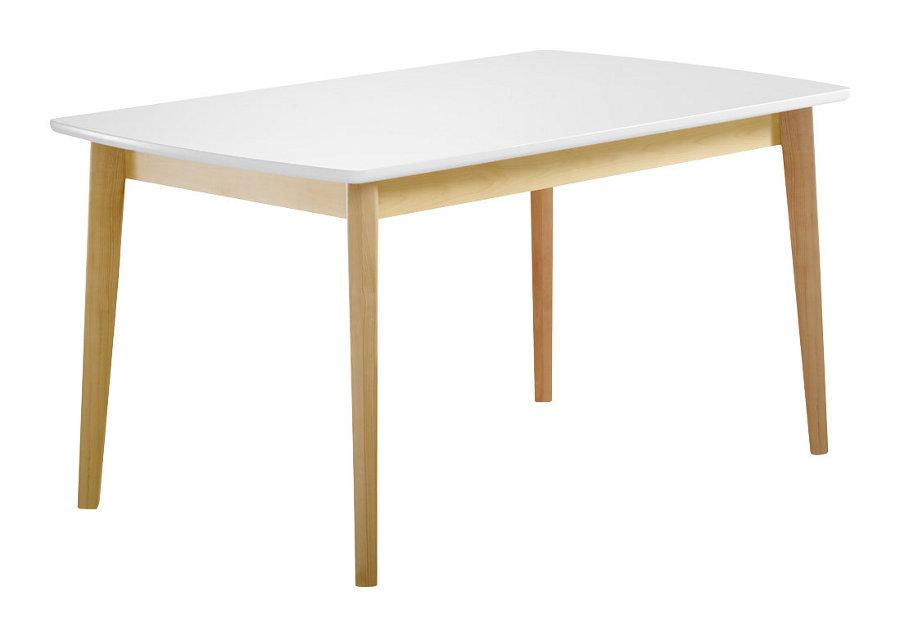 Olivia ruokapöytä 140x85 koivu/valkoinen