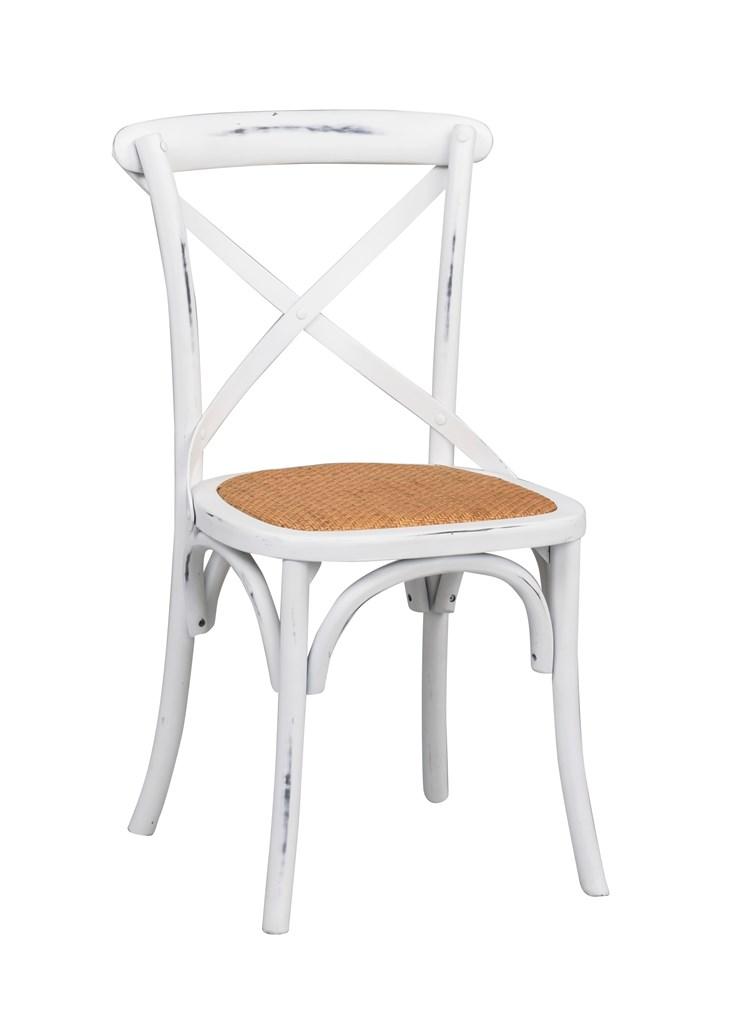 Gaston tuoli antiikinvalkoinen/rottinki, Rowico