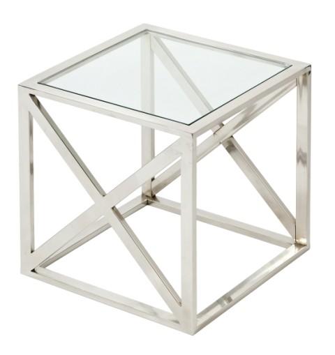 Lasipöytä Cross neliö 40x40x40 cm, Roomlight