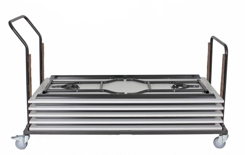 Rico pöytä 180x80cm valkoinen, harmaat taittuvat jal