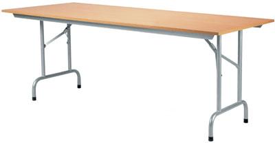 Rico pöytä 160x80 pyökki, harmaat taittuvat jalat