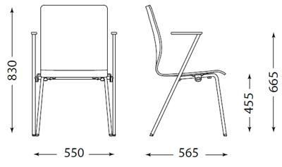 Fen tuoli valkoinen/musta, kromi runko
