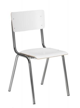 Sally tuoli kromi runko/valkoinen laminaatti